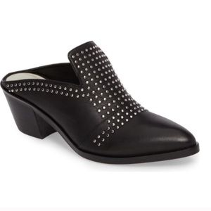1. State Lon Studded Mules Black Leather